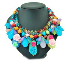 Oversized traditional amazon jewelry,genuine austrian crystal jewelry necklace