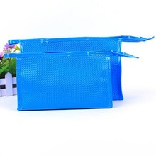 Fancy PU Leather Women Weave Eyebrow Pencil Bag
