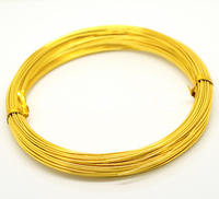 Gold Plated Aluminum Wire Jewelry Making 1mm, sold per packet of 5 Roll(5x20M)