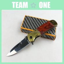 Brass Folder Knife, Pocket Folding Knife in gift tin