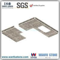 Almond mauve granite kitchen countertop ogee edge cutting per square meter price