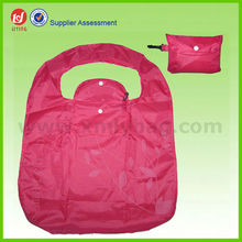 Red Reusable Nylon Folding Shopping Bag,Economic Foldable Bag
