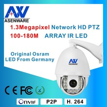 Outdoor PTZ Camera IR 100-180M Dome 960P with Excellent Heat Dissipation