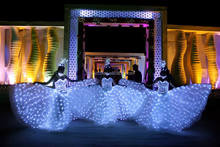White LED isis Wings / LED Light dance wings for stage performance