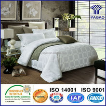 100 cotton satin jacquard bedding set for home and hotel duvet cover