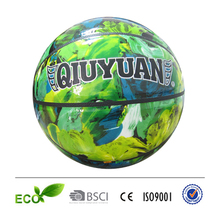 shiny leather camouflage custom basketball street basketball