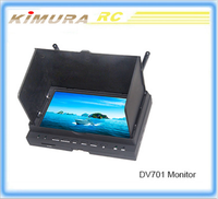 "Free shipping DV701 5.8ghz 32ch FPV Receiver 7"" HD 800*600P Monitor Wireless DVR for rc drone quacopter"