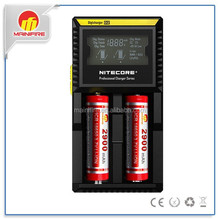 HOT!!! Nitecore D2 LCD Microcomputer Controlled Intelligent Charger Li-ion NiMH Battery Charge Suitable for 18650 16340 CR123
