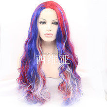 In stock Personality color ombre wig lace front wig temperature synthetic fiber wig