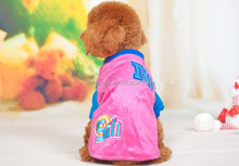2014 Hot sale colorful pet dog clothes warm T-shirt, Winter pet dog clothing