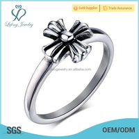 Beautiful women blank ring for inlay,finger ring size,spikes stainless steel ring