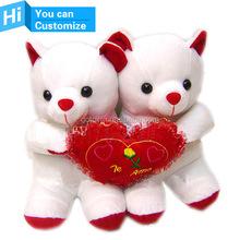 Beautiful Cute bear plush toy with a big Peach Heart
