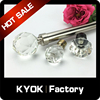 KYOK hot selling crystal finial plating metal curtain rod, golden color 28&22mm dual curtain bracket,hot sale Canada curtain rod
