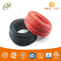 TUV approved RED and BLACK solar pv power cable 4sqmm for photovoltaic systems