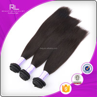 2015 ali express high quality 100% Chinese/Indian/Brazilian human hair natural color hair weft natural wave human hair extension