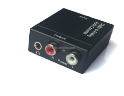 Upgrade DAC Digital Optical Coaxial Toslink Signal to Analog Audio Converter Adapter RCA