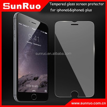 9H hardness 2.5D round edge tempered glass screen protector for iphone6&iphone6 plus