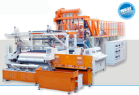 three layer or five layer 1500 mm co-extrusion pe cast film production line