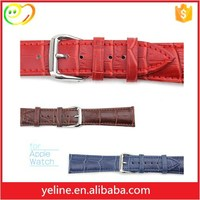 Thin Ladies fashion genuine crocodile watch leather straps