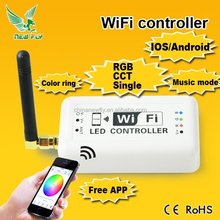 Wifi Wireless RGB LED Strip Controller for iOS iPhone iPad Android Smartphone Tablet wifi dmx512 controller