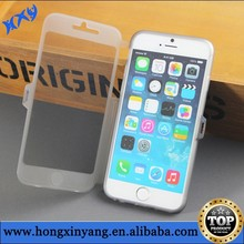 HOT! Ultra Thin Slim Crystal Clear Flip Case for iphone6 Plus 5.5/ 4.7 ,Soft TPU Silicon Cover Transparent for iphone 6