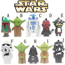 Star Wars Model Yoda R2D2 Darth Maul Vader Boba Fett Soldier USB Flash Drive Pen Drive 8GB 16GB 32GB Pendrive