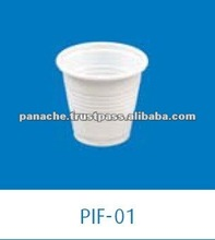 5oz White Disposable PP Plastic Yogurt Cups