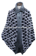 Yzy1420 venta al por mayor de europa diseño de piel de conejo Rex capa