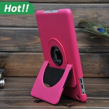 Hand Holder 360 Rotating Magnetic PU Leather Case Smart Cover Stand For iPad 1/2/3 mini