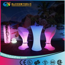 High LED table lighting bar cocktail table nightclub event table