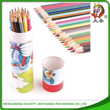 2015 latest Mini natural colour pencil set with and paper tube