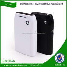 HC-M6 dual usb mobile phone charger new 6600mAh power bank