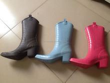 (ch. W166) sicurezza pioggia stivali donna tacco alto stivale di gomma donna a buon mercato