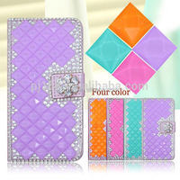 For Samsung Galaxy S5 Mini Diamond Case Bling Leather Flip Case Cover For Samsung Galaxy S5 Mini