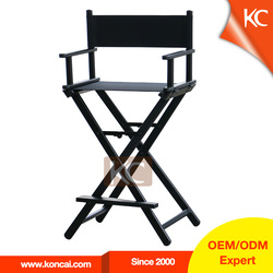 Custom makeup salon used lightweight aluminum folding director chair, cheap folding chair with footrest