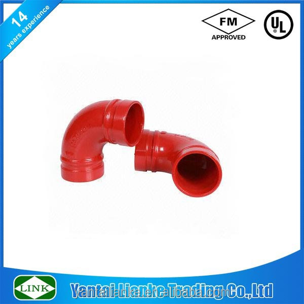 Degree elbow butt welded concentric ductile iron