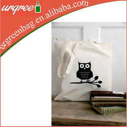 Fashionable Recycled cotton canvas tote bag long handle