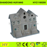 cheap kid wooden toys, small wooden house for display
