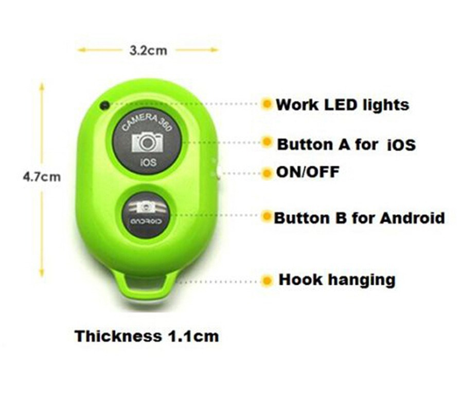 Продажа автоспуска затвора камеры bluetooth Беспроводной пульт дистанционного управления для samsung s3 s4 Примечание iphone android ios