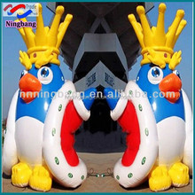 NB-CT20307 Ningbang Twins king of penguin advertsing inflatable for sale