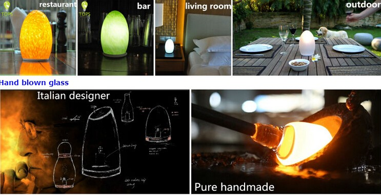 cordless flameless decoration candle light modern design lamp