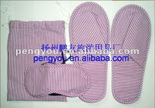 2012 non-woven girls disposable hotel slippers