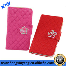 Hybrid Case for Samsung Galaxy S4,Flip Wallet Leather Case with Luxury Flower Button.