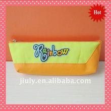 2011 Rainbow Zipper Polyester Pencil Pouch