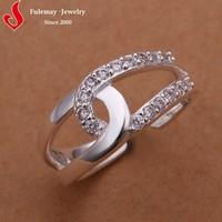 Adjustable wedding rings cheap silver expandable rings