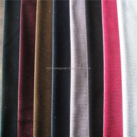 Haining Warp 100 Polyester Velvet Suits Designs Fabric With Cation For Man Suit