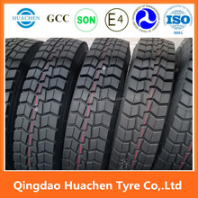 good quality TBR tyre 295/80R22.5 from Chinese inflatable tire display