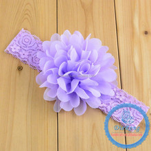 Teenage girls elastic headband with big flowers baby girls headband Luxe headband