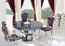 Cheap Metal Stainless Steel Dining Room Table Sets