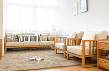 Design promotional top grain leather wooden sofa